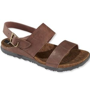 Merrell leather strappy around town backstrap sand